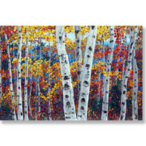 Aspen and Birch Tree Art