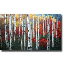 Aspen Symphony - Amazing Aspen Art by Jennifer Vranes