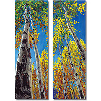 Forest Treasure - Aspen and Birch Tree Art