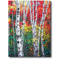 Autumn Glow - Aspen Art by Jennifer Vranes
