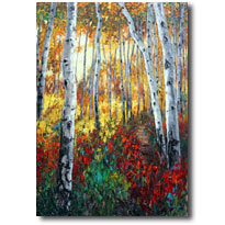 Aspen Twilight - Aspen Painitings by Jennifer Vranes