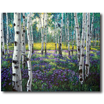 Meadow of Amethyst - Aspen Art by Jennifer Vranes