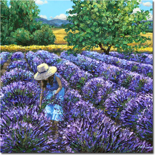 How To Paint Lavender Fields In Acrylic