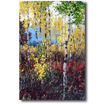 Lovely Fall- Aspen Painitings by Jennifer Vranes