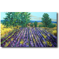Lavender Fields, Lavender Paintings from Provence France
