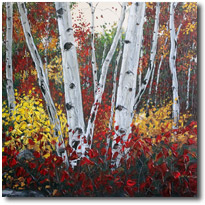 Aspen Paintings and Birch Tree Art
