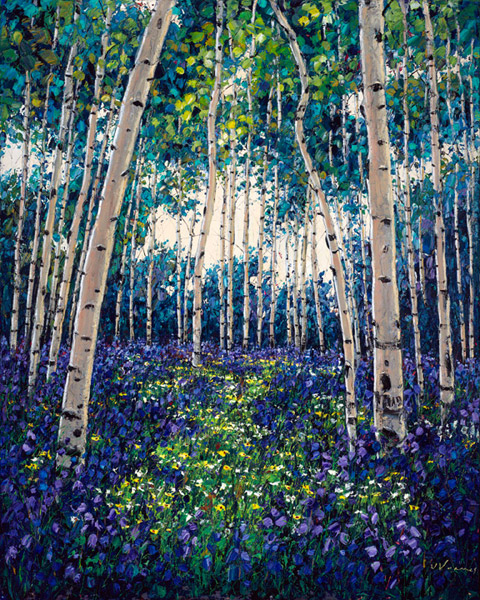 Aspen Art by Jennifer Vranes - Birchtree Paintings, Lavender Fields, Poppies